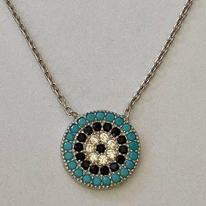 Jewelry - 🧿925 sterling silver evil eye cz stones necklace
